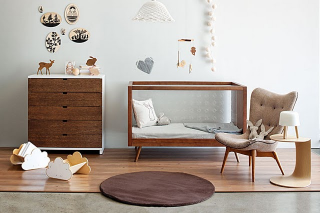Mid century modern design ideas for Modern nursery decor