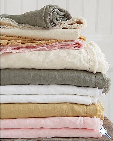 Washable linen garments should be turned inside out before washing to prevent surface fibers from breaking. The clothes can be hand washed or machine washed on the gentle cycle using warm or cold water for washing and rinsed in cold water.