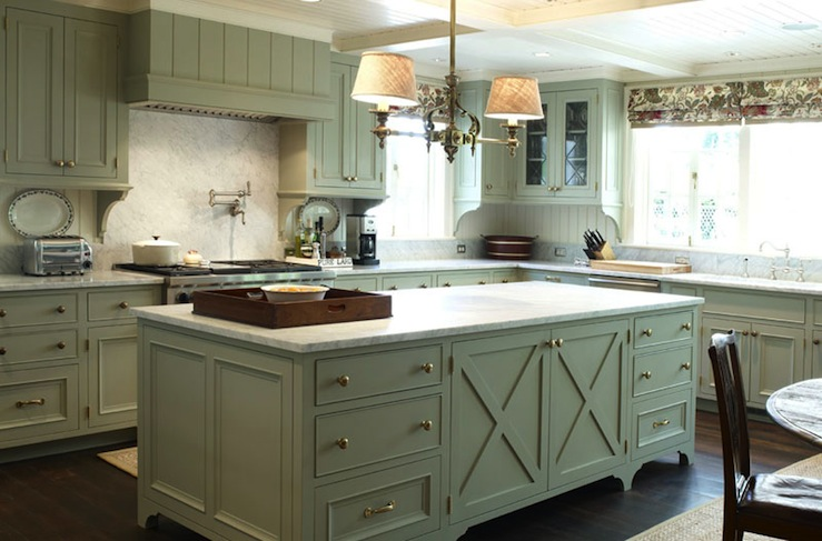 green gray kitchen cabinets - traditional - kitchen - warmington
