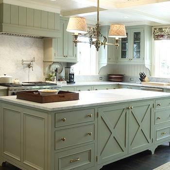 Green Gray KItchen Cabinets, Traditional, kitchen, Warmington & North