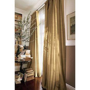 Aegean Blue Dupioni Grommet Curtain World Market