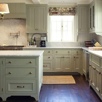 Green Gray Cabinets View Full Size. Modern French Country Kitchen ...