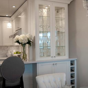 Gray Barstools, Transitional, kitchen, Deslaurier Custom Cabinets