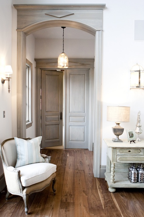 Wood plank floors design ideas Double doors for master bedroom