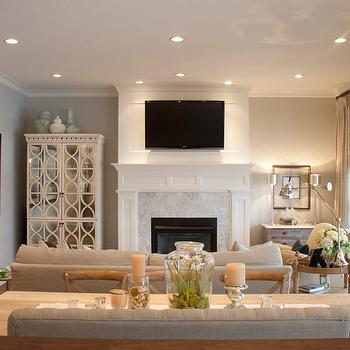 Mirrored Armoire, French, living room, Alice Lane Home