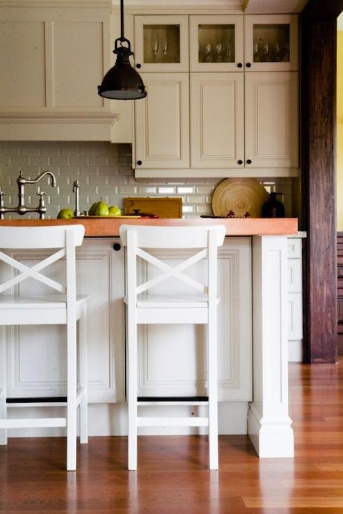X Back Bar Stools - Transitional - kitchen - Capoferro Design Build ...