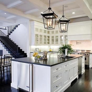 Black and White Kitchen, Transitional, kitchen