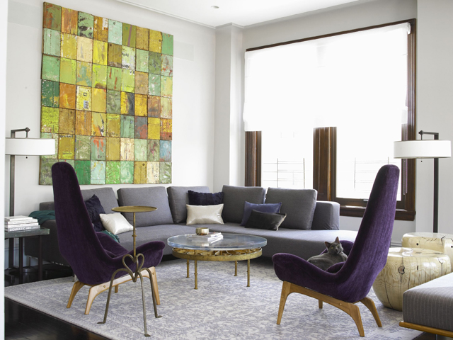 Charmant Love The Artwork And The Purple Chairs. Gray And Purple Living Room.