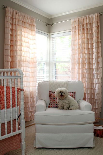 Pink Drapes Contemporary Nursery Apartment Therapy
