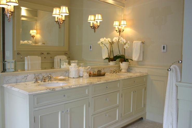 ivory double vanity - Bathroom Design Ideas White Cabinets