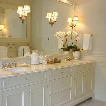 Ivory Bathroom Cabinets Design Ideas