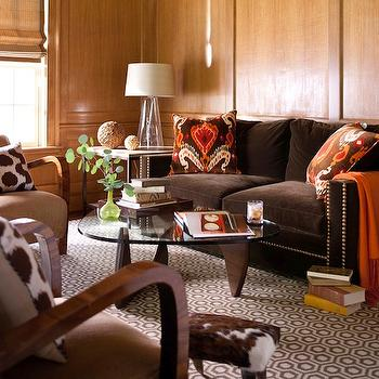 Chocolate brown sofa design ideas for Chocolate brown sofa living room ideas