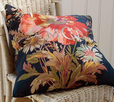 pottery barn pillow covers Blue Floral Pillow Cover   Pottery Barn pottery barn pillow covers
