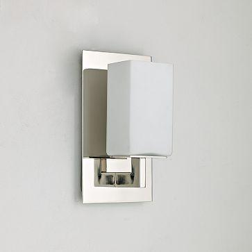 Bathroom Sconces Polished Chrome kohler devonshire collection 1-light polished chrome wall sconce
