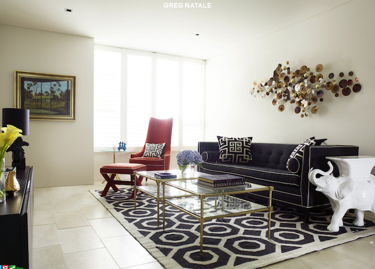 Navy Blue Sofa Contemporary Living Room Greg Natale