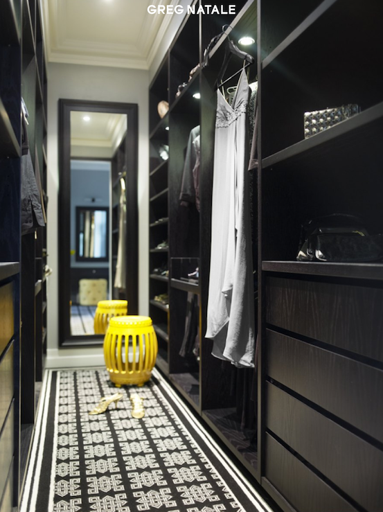 Black Built In Cabinets Contemporary Closet Greg Natale