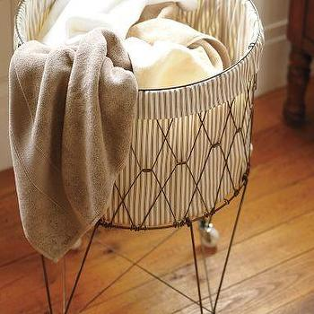 French Wire Hamper & Liner, Pottery Barn