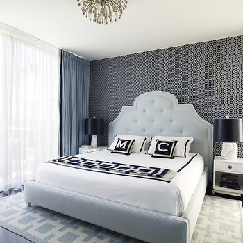 Jonathan Adler Woodhouse Bed, Contemporary, bedroom, Greg Natale