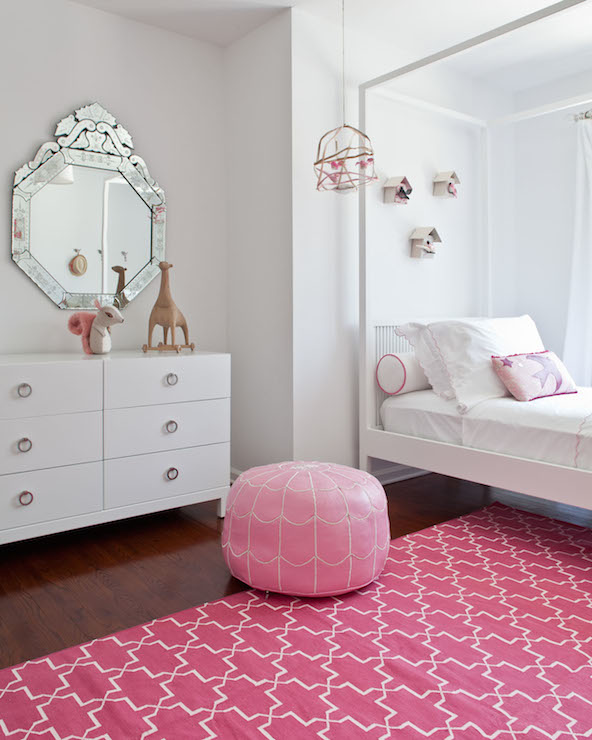 Pink Girls Room: Pink Trellis Rug