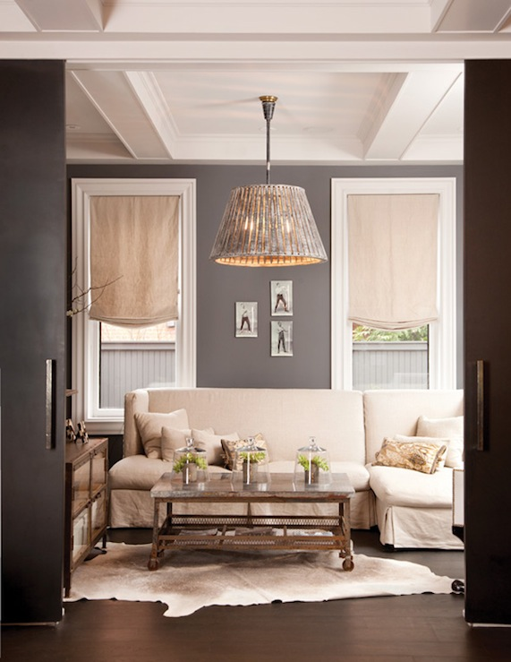 Brickmakers coffee table transitional living room Shades of gray for living room