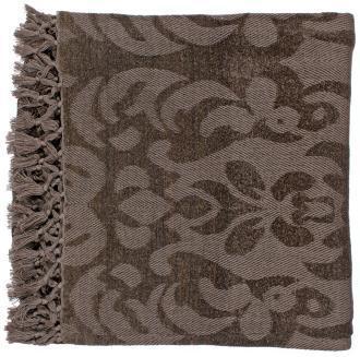Surya Tristen Gray Plum Throw Blanket, LampsPlus.com