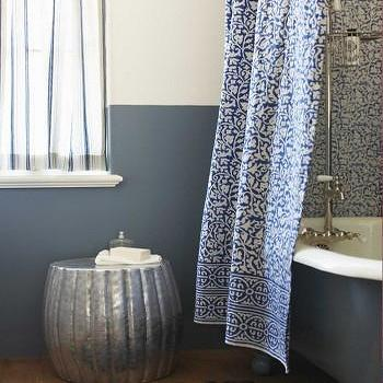 Indigo Shower Curtain, VivaTerra