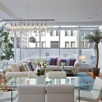 Floor to Ceiling Windows, Contemporary, living room, Benjamin Moore Super white, Marie Burgos Design