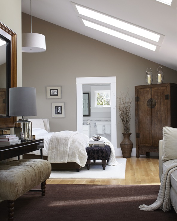 Bedroom Paint Colors Pinterest Bedroom Ceiling Lighting Fixtures 2 Bedroom Apartment Floor Plans Small Bedroom Carpet: Bedroom With Sloped Ceiling