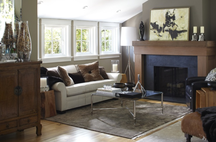 Taupe Paint Colors, Contemporary, living room, Benjamin Moore Woodcliff Lake, Urrutia Design