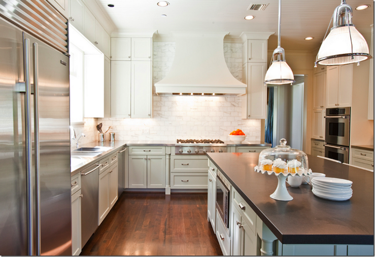 View Full Size. Gorgeous Light Green Gray Kitchen ...
