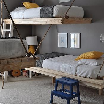 Gray Blue Yellow Bedroom