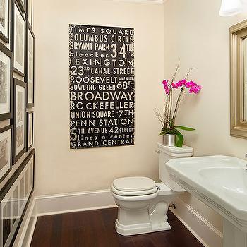 Photo Wall in Bathroom, Transitional, bathroom, Traci Zeller Designs