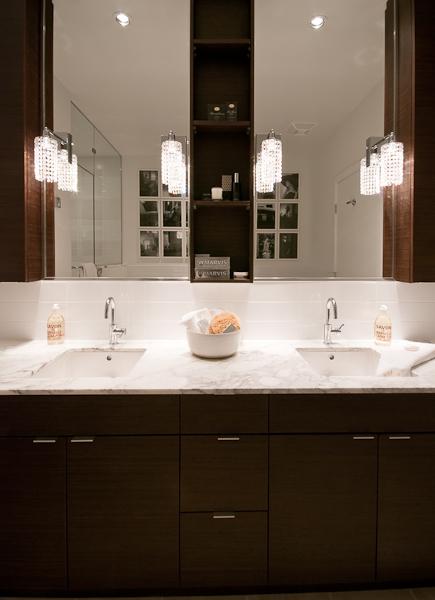 Espresso vanity with white countertops design ideas for White bathroom cabinets with dark countertops