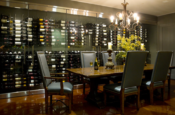 Built In Wine Rack - Contemporary - dining room - Ambiance Interiors