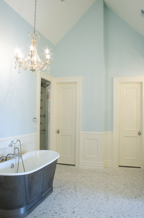 Master bathroom wainscoting transitional bathroom for Bathrooms with wainscoting photos