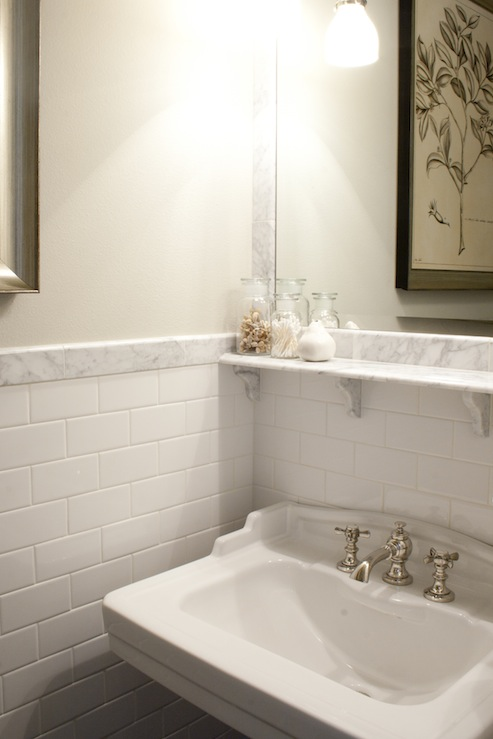 White subway tile bathroom design ideas - Bathroom subway tile backsplash ...
