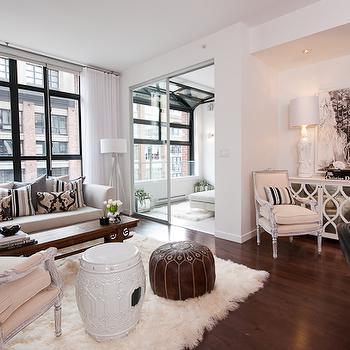 Mirrored Clsoet Doors, Transitional, living room, The Cross Decor & Design