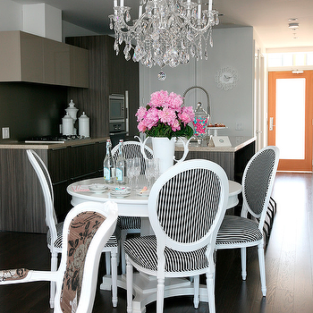 Black and White Dining Chairs, Contemporary, dining room, The Cross Decor & Design