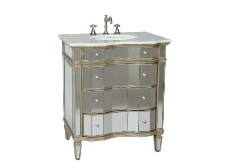 Horchow Mirrored Vanity with Sink Look 4 Less!