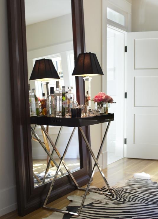 Octagon Mirror Transitional Living Room Sherwin