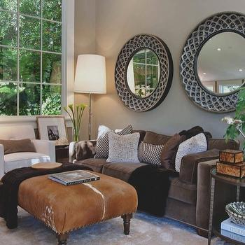 Light Taupe Wall Paint, Contemporary, living room, Benjamin Moore Brandon Beige, Urrutia Design