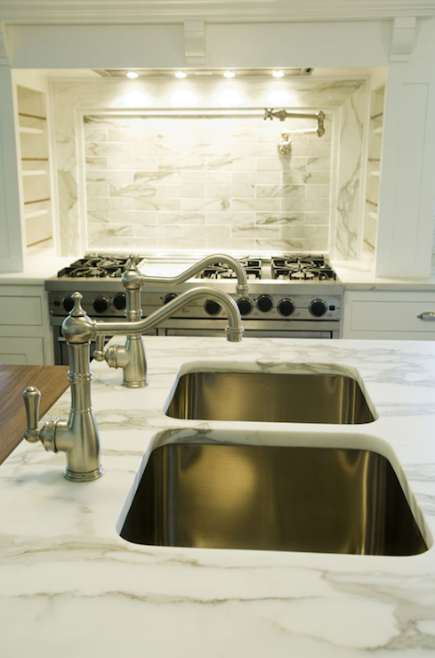 Double Kitchen Sinks Design Ideas