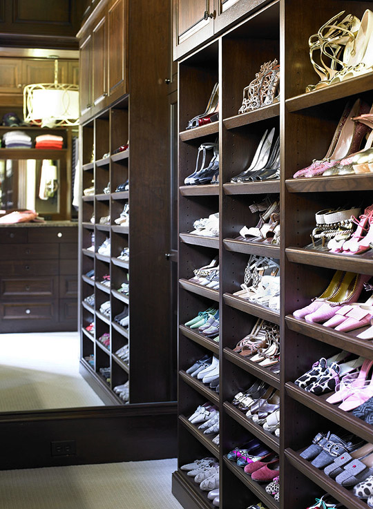 Built In Shoe Rack Traditional Closet Traditional Home - Shoe cabinets design ideas