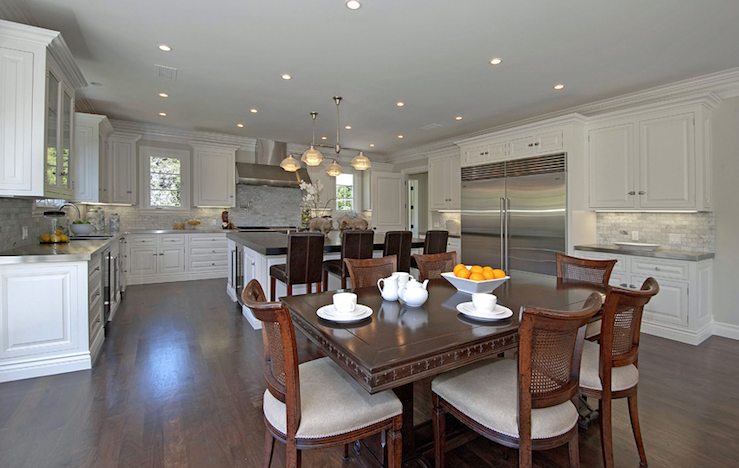 Beautiful Kitchen Tables Pleasing With Open Floor Plan for Kitchen and Dining Room Photo