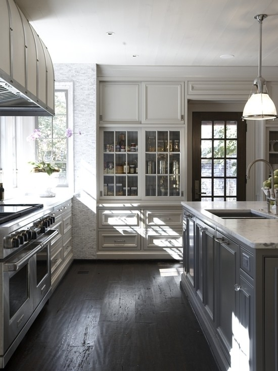 Gray Kitchen Ideas - Transitional - kitchen - Benjamin ...