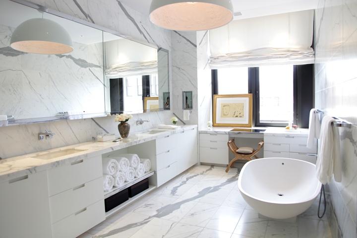 Bathroom Ideas Calcutta Marble : Calcutta marble contemporary bathroom katch id