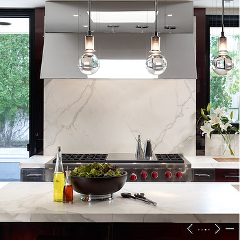 Calcutta Gold Marble Backsplash, Contemporary, kitchen, de Giulio Kitchen Design