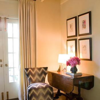 Kelly Wearstler Fabric, Transitional, entrance/foyer, Courtney Hill Interiors