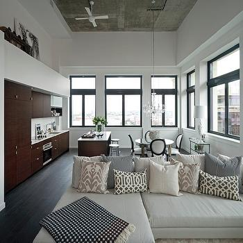 Ivory Sectional, Contemporary, living room, The Cross Decor & Design