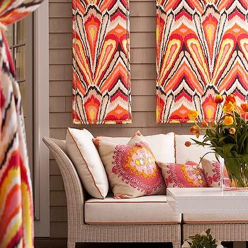 Trina Turk Super Paradise Print, Contemporary, deck/patio, Traditional Home